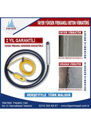 Beton Vibratörü - FYE50 - Yüksek Frekanslı 2 Yıl garantili