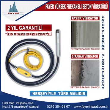 Beton Vibratörü - FYE65 - Yüksek Frekanslı 2 Yıl garantili